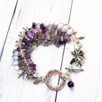 Amethyst and Pearl Bracelet Spring 2016