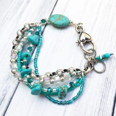 Turquoise & Silver Bracelet SP16