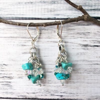 Turquoise & Silver Earrings SP16
