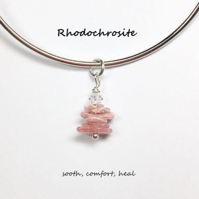 Rhodochrosite Charm