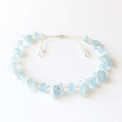Aquamarine Chip Bracelet