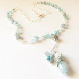 Aquamarine Dangle Necklace