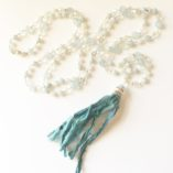 Aquamarine & Moonstone Mala