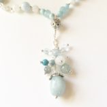 Aquamarine & Moonstone Drop Necklace