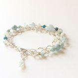 Aquamarine Triple Strand Bracelet